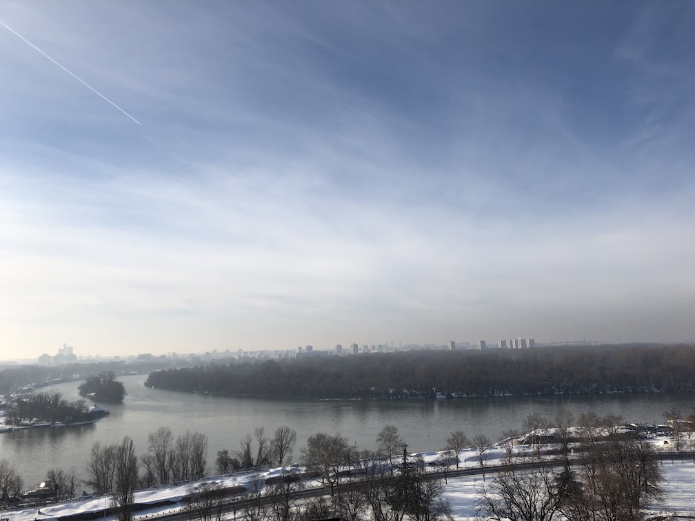 View from the Belgrade Fortress