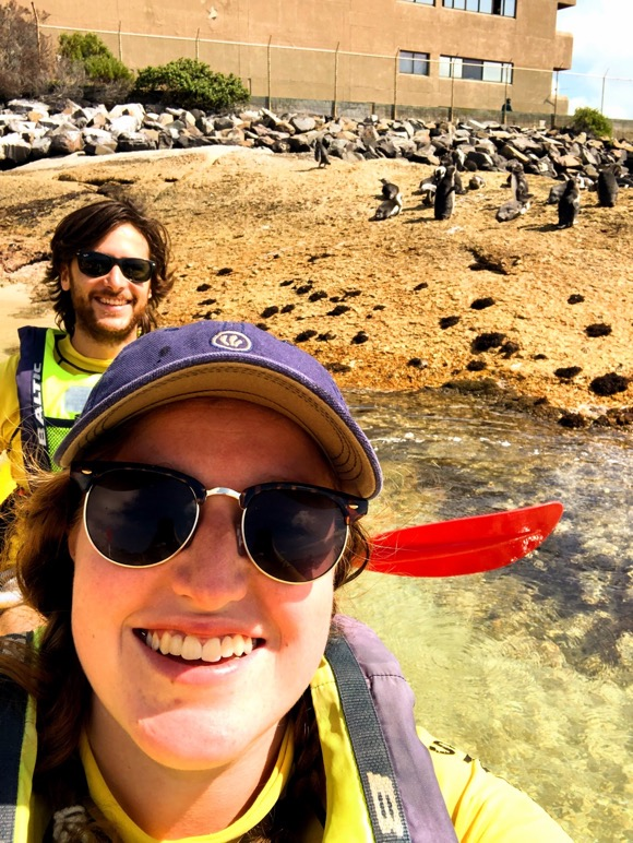 Tomer and I with Penguins!